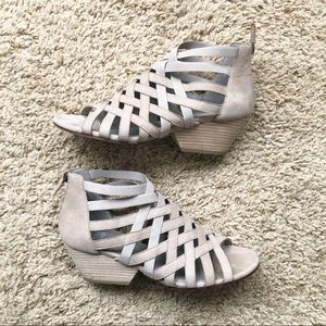 Eileen Fisher Vero Cuoio Tan Cage Sandals/Size 8.5